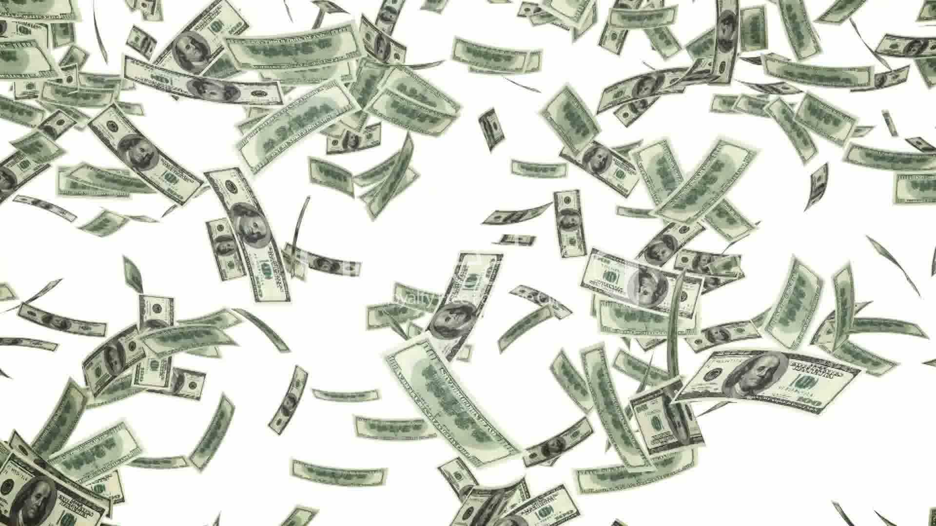 dollar bills falling on - photo #8