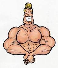Cartoon-Muscle-Man-color