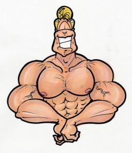 Cartoon-Muscle-Man-color