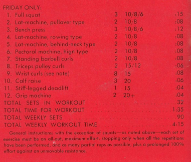 nautilus machine workout plan