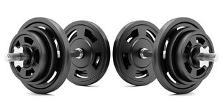 two-dumbbells-isolated-white-background-59037412