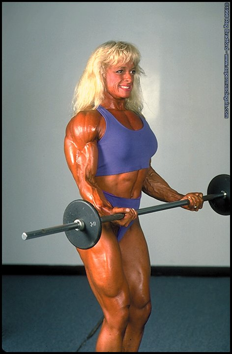 Female Bodybuilder Astrid Falconi  From Pompons To -3954